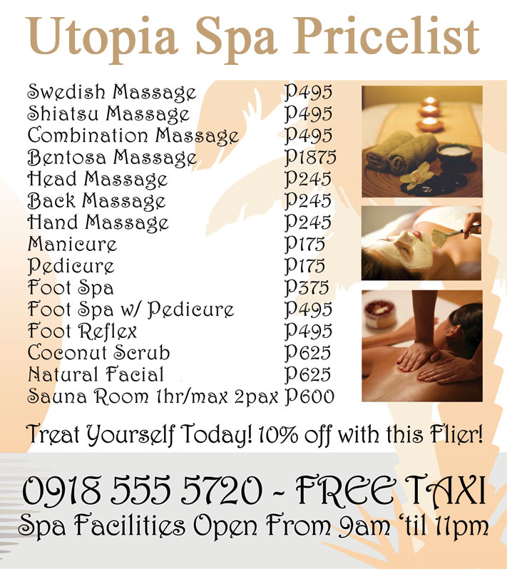 utopia-spa-pricelist