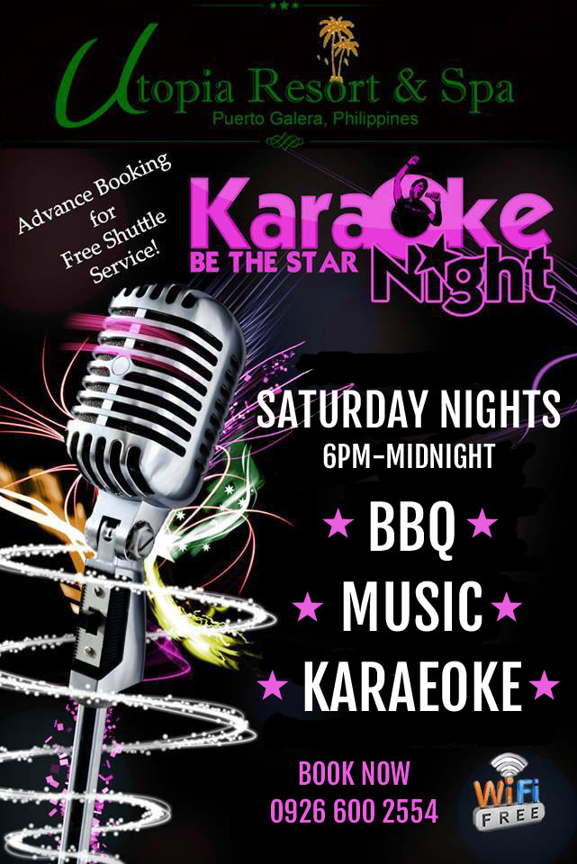 bbq and karaoke at utpoia resort puerto galera
